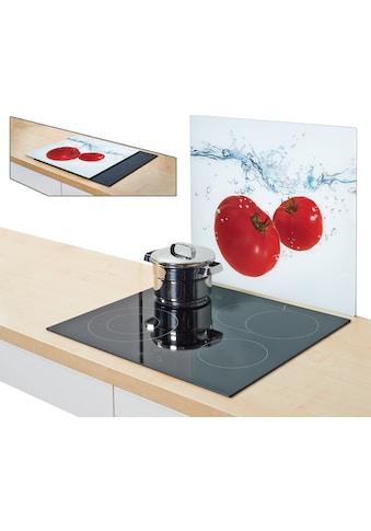 Zeller Present Herdblende-/Abdeckplatte »Tomato Splash«, Silikonfüßen kaufen