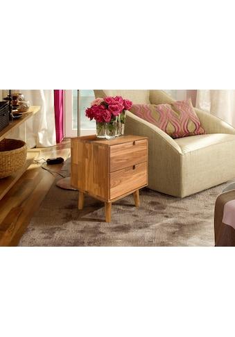 Home affaire Nachtkommode »Scandi«, aus massivem Eichenholz, mit starker Oberfläche, Breite 40 cm kaufen