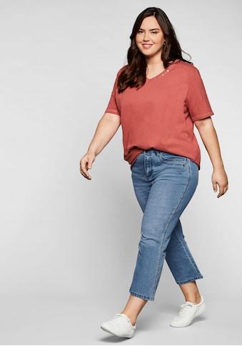 Sheego Bootcut-Jeans, in 7/8-Länge mit Deko-Taschen kaufen