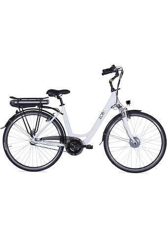 LLobe E-Bike »Metropolitan JOY weiß 10 Ah«, 3 Gang, Frontmotor 250 W kaufen