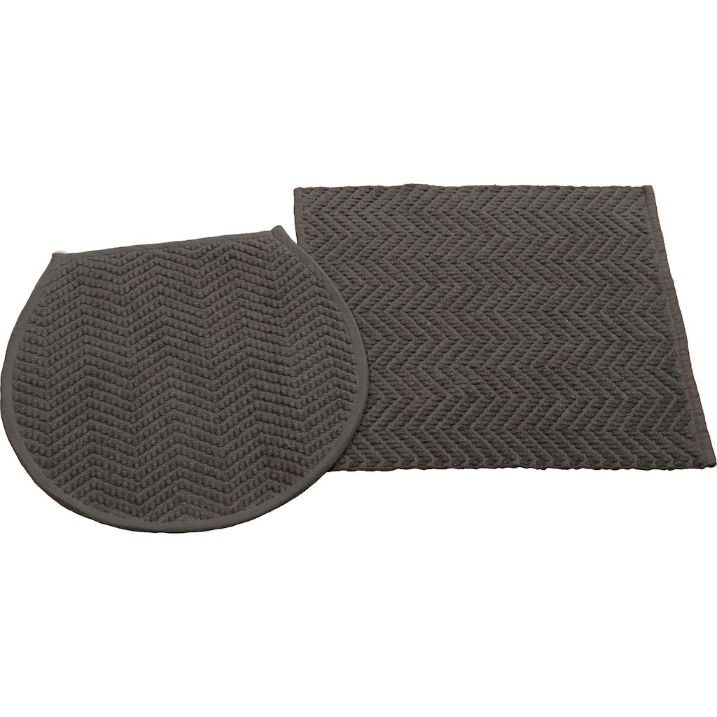 COUCH♥ Badematte »Badesache«, Höhe 4 mm, Badgarnitur, 100% Baumwolle, COUCH Lieblingsstücke