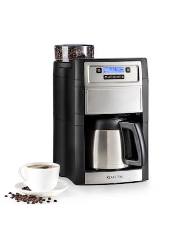 Klarstein Kaffeemaschine Mahlwerk 1,25 l silber »Aromatica II Thermo« kaufen