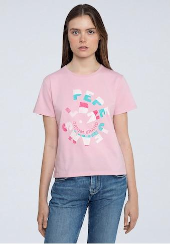 Pepe Jeans Kurzarmshirt »DREE«, mit verspieltem Marken-Logo-Print im Brustbereich kaufen