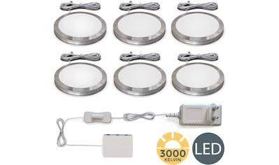 B.K.Licht Unterschrankleuchte, LED-Board, Warmweiß, LED Schrank-Licht Unterbauleuchten Küchen-Lampe flach Aufputz-Strahler Spots 6er SET kaufen