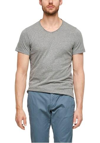 s.Oliver V-Shirt, meliert kaufen