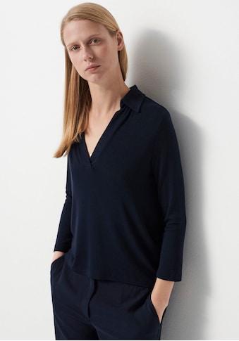 someday Langarmshirt »Kuki«, mit Polo-Kragen kaufen