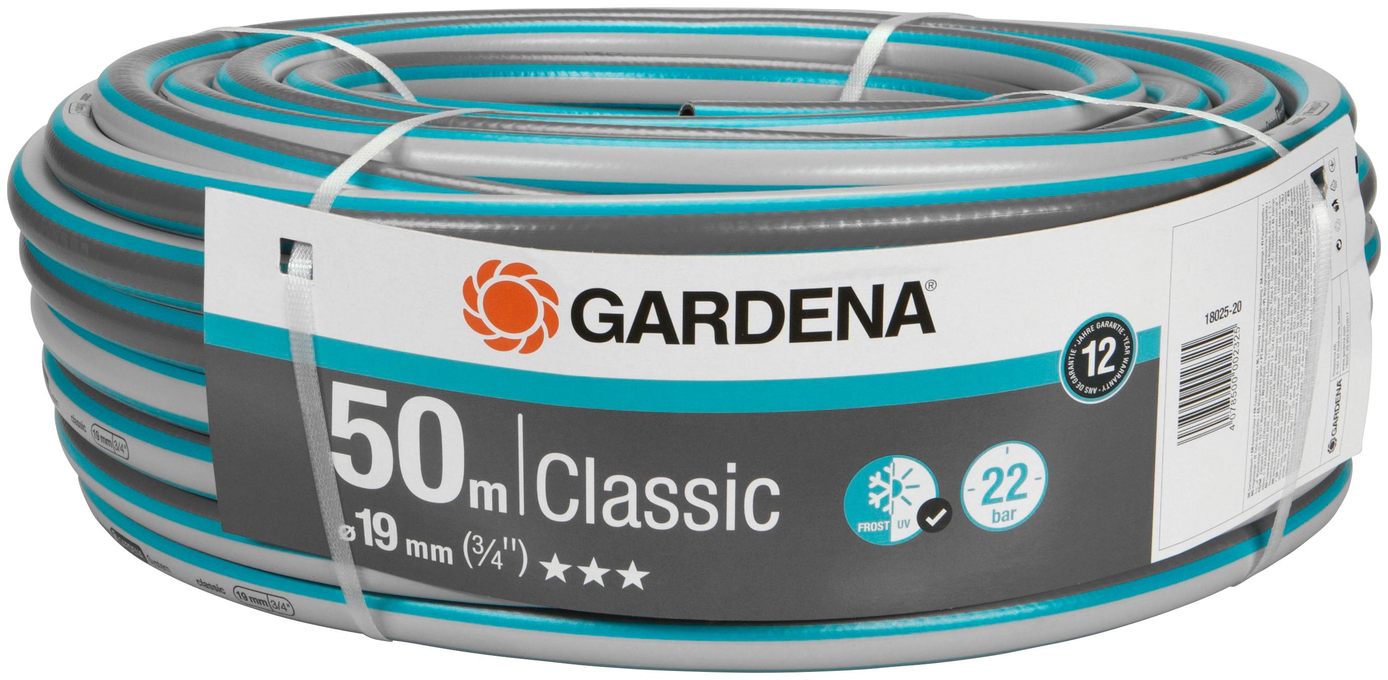 GARDENA Gartenschlauch »Classic, 18025-20«, 19 mm (3/4), 50 Meter | Garten > Garten-Duschen | Gardena