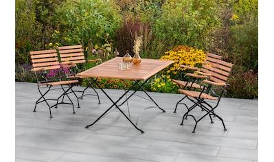 MERXX Gartenmöbelset »Schloßgarten«, (5 tlg.), 4 Klappsessel und Klapptisch kaufen