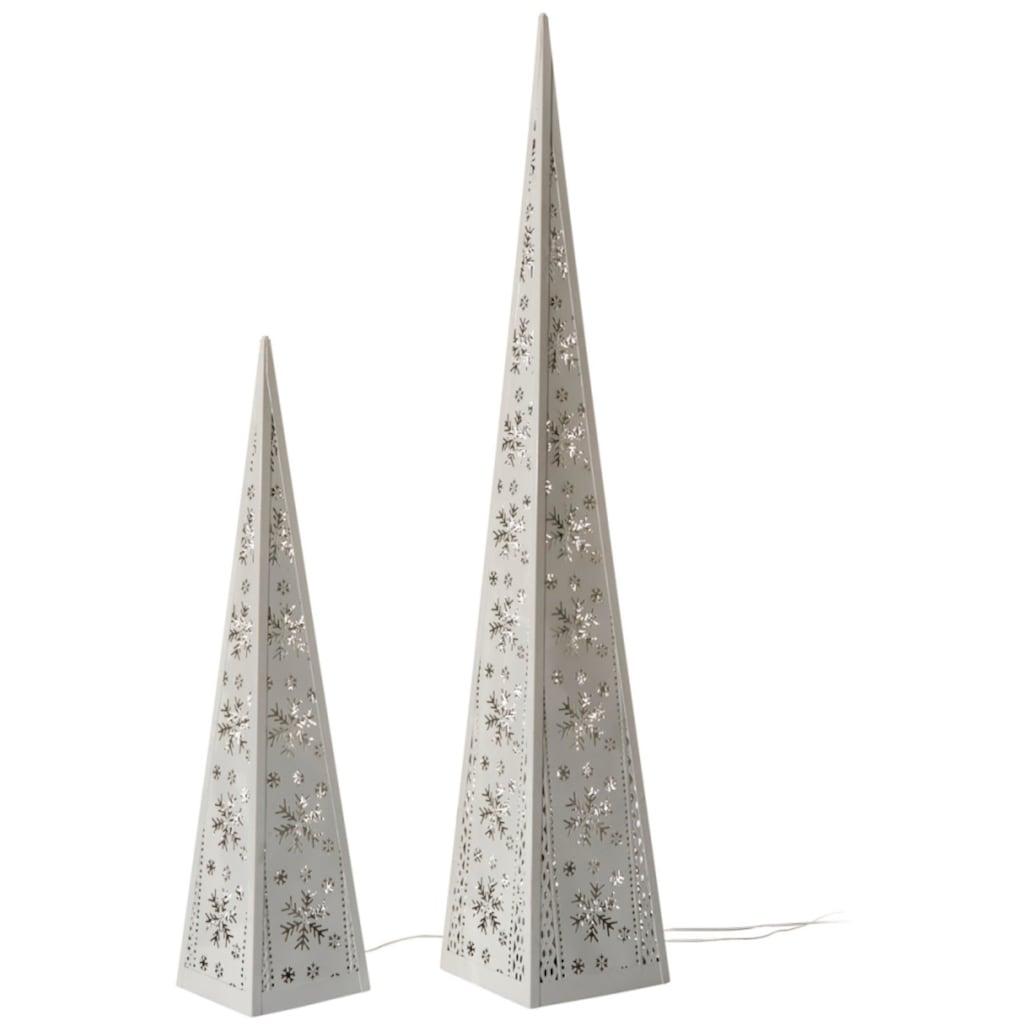 LED Dekoobjekt »Pyramiden«, 2 St., Warmweiß, per Motor drehbare LED-Beleuchtung