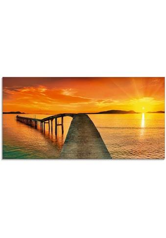 Artland Glasbild »Sonnenaufgang über dem Meer« kaufen