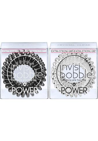 invisibobble Spiral-Haargummi »Power«, True Black & Crystal Clear kaufen