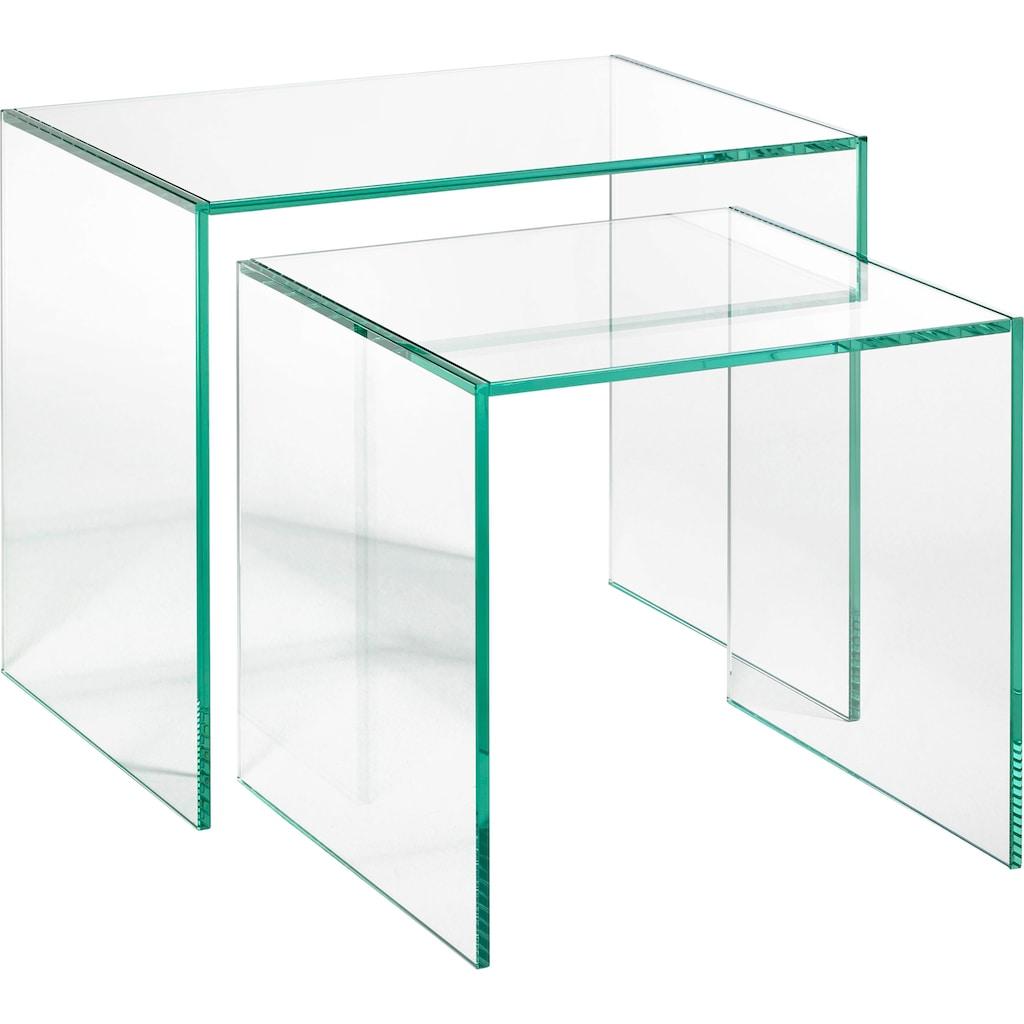 Places of Style Beistelltisch »Glarus«, aus Floatglas