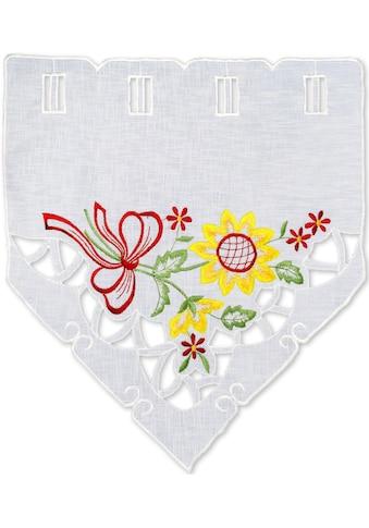 Delindo Lifestyle Scheibengardine »Sonnenblumen«, HxB: 45x115 kaufen