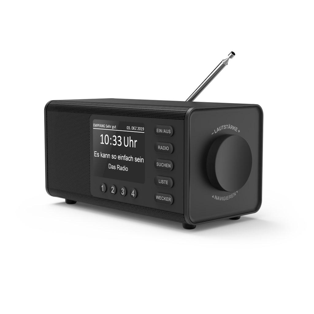 "Hama Digitalradio (DAB+) »Internetradio«, (Digitalradio (DAB+)-FM-Tuner-Internetradio 5 W), ""DR1000DE"", FM/DAB/DAB+, Schwarz"