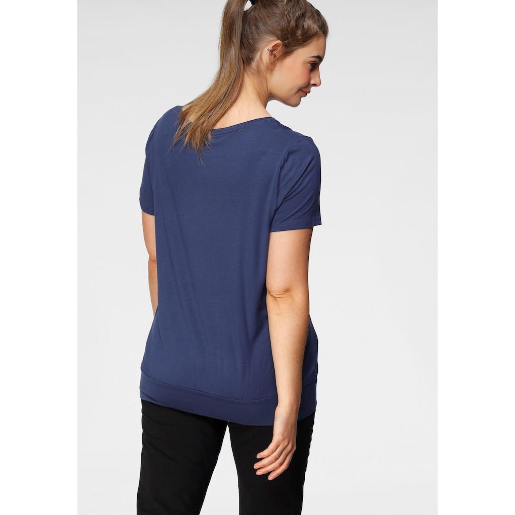 H.I.S T-Shirt »Nachhaltige LENZING™ ECOVERO™ Viskose«, Große Größen