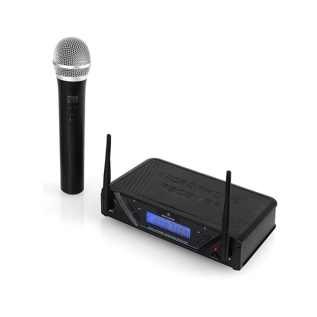 Malone UHF Funkmikrofon Set 1 Kanal