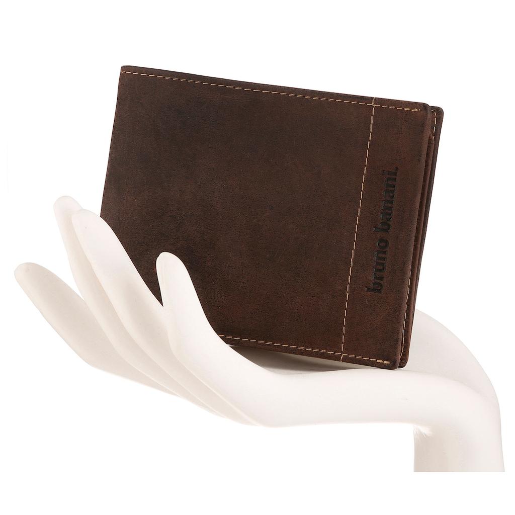 Bruno Banani Geldbörse, aus Leder im Querformat
