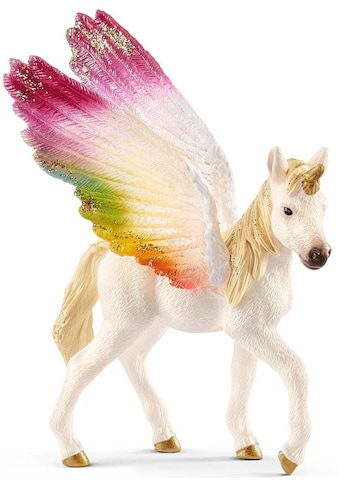 Schleich® Spielfigur »bayala, Geflügeltes Regenbogeneinhorn Fohlen (70577)« kaufen