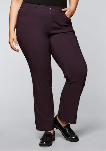 Sheego Stretch-Hose, mit gerader Beinform, innen leicht angeraut kaufen