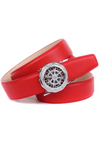 Anthoni Crown Ledergürtel, mit silberfarbener Automatik-Schließe und drehendem... kaufen