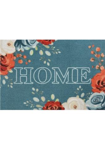 HANSE Home Fußmatte »Flower Home«, rechteckig, 7 mm Höhe, Schmutzfangmatte, mit Spruch kaufen