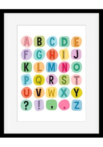 Home affaire Bild »Buchstaben«, mit Rahmen kaufen