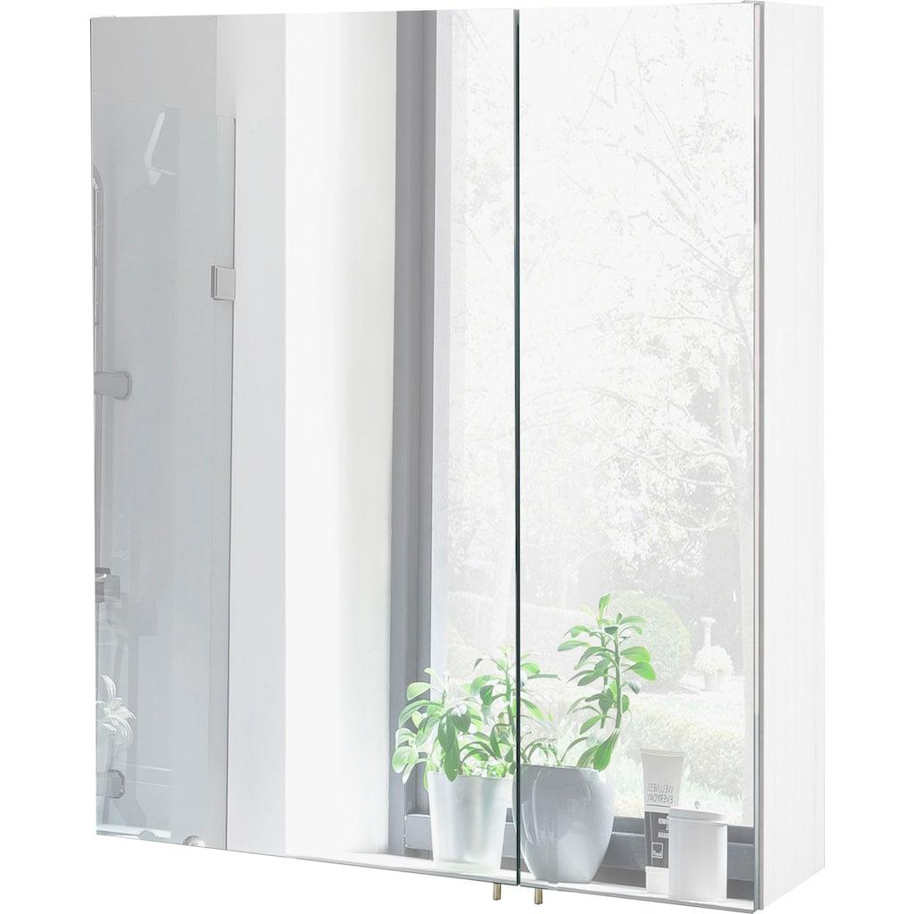 Schildmeyer Spiegelschrank »Basic«, Breite 60 cm, 2-türig, Glaseinlegeböden, Made in Germany