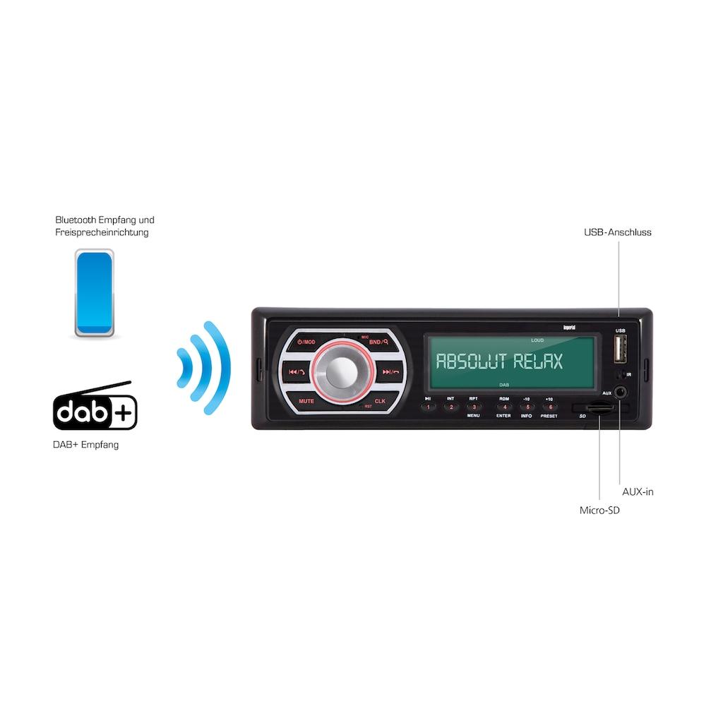 IMPERIAL Autoradio »DABMAN Car 2«, (Bluetooth Digitalradio (DAB+)-FM-Tuner)