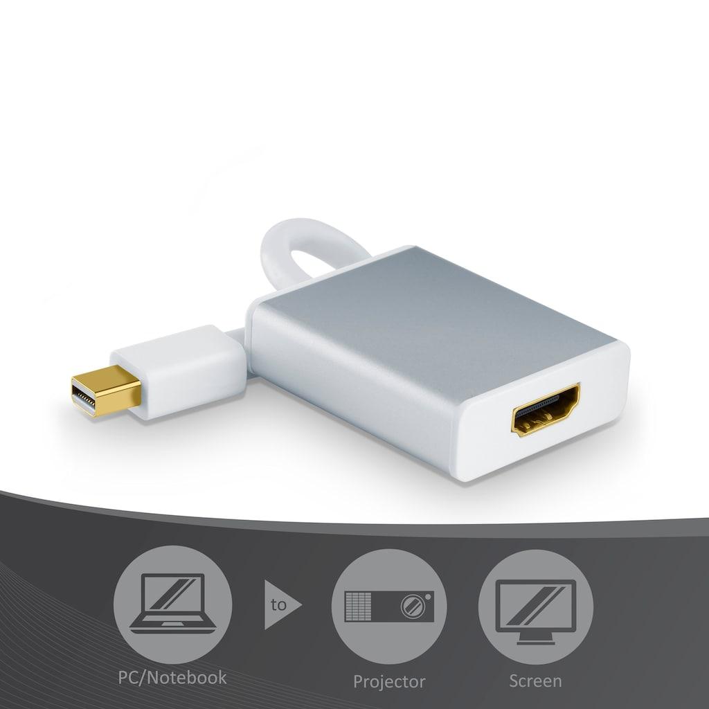 CSL Full HD Mini Displayport zu HDMI Adapter Kabel »HDMI Buchse zu miniDisplayPort Stecker«
