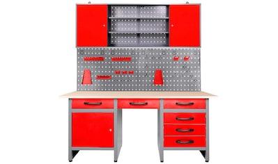 ONDIS24 Werkstatt - Set »Harry«, höhenverstellbar, inkl. 22 - tlg. Hakenset kaufen