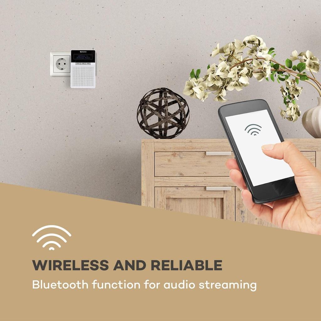 Auna Steckdosen-Radio, UKW/PLL, BT, LCD-Display, weiß »DigiPlug FM«