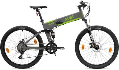"LLobe E-Bike »FML-830 grey 27,5"", 10,4 Ah«, 9 Gang, Shimano, Heckmotor 250 W kaufen"