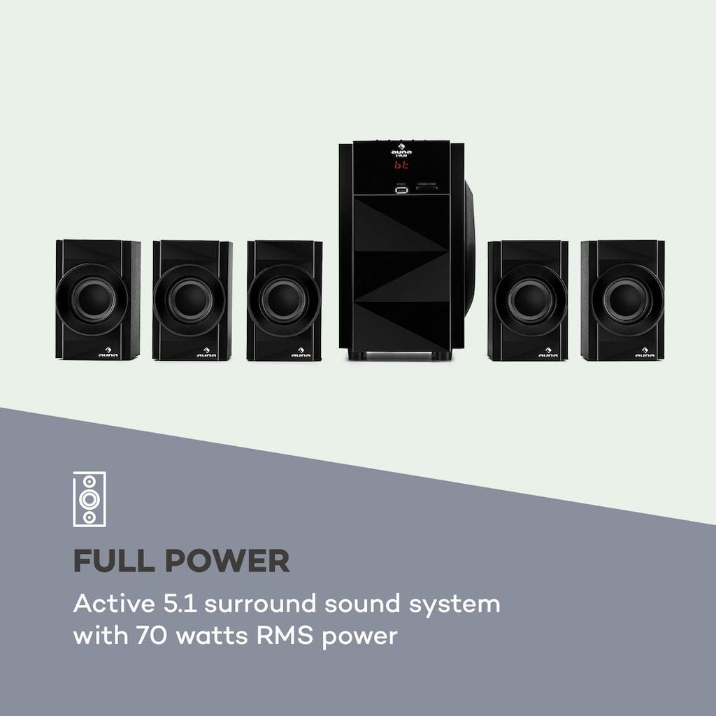 Auna 5.1 Lautsprechersystem 70 W RMS OneSide Subwoofer BT