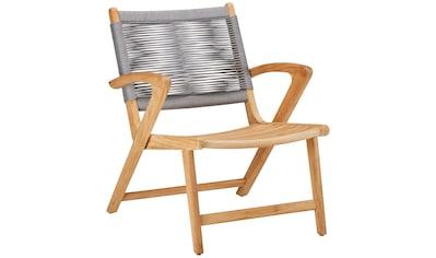Best Loungesessel »Agadir«, Teakholz, inkl. Sitzkissen, grau kaufen