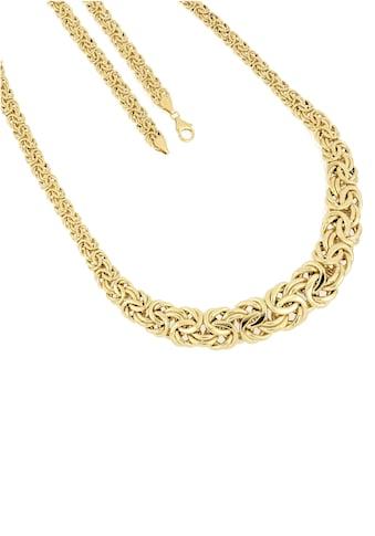 Firetti Goldkette »Edle Königskettengliederung, 7,5 mm  -  17 mm breit im Verlauf, glänzend, halbmassiv« kaufen
