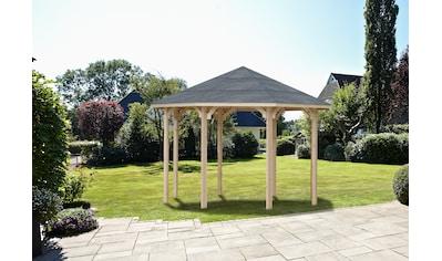 WOLFF FINNHAUS Holzpavillon »Kreta 8 XL«, BxT: 476x476 cm kaufen