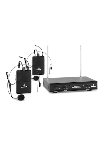 Auna 2-Kanal-VHF-Funkmikrofon Set 2xHeadset 50m »VHF-2-HS« kaufen