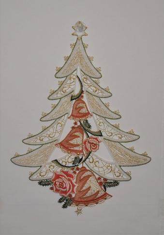 Stickereien Plauen Fensterbild »Weihnachtsbaum« kaufen