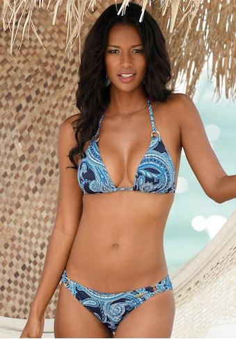 LASCANA Bikini-Hose »Boho«, mit goldfarbenen Zierringen und Paisleymuster kaufen