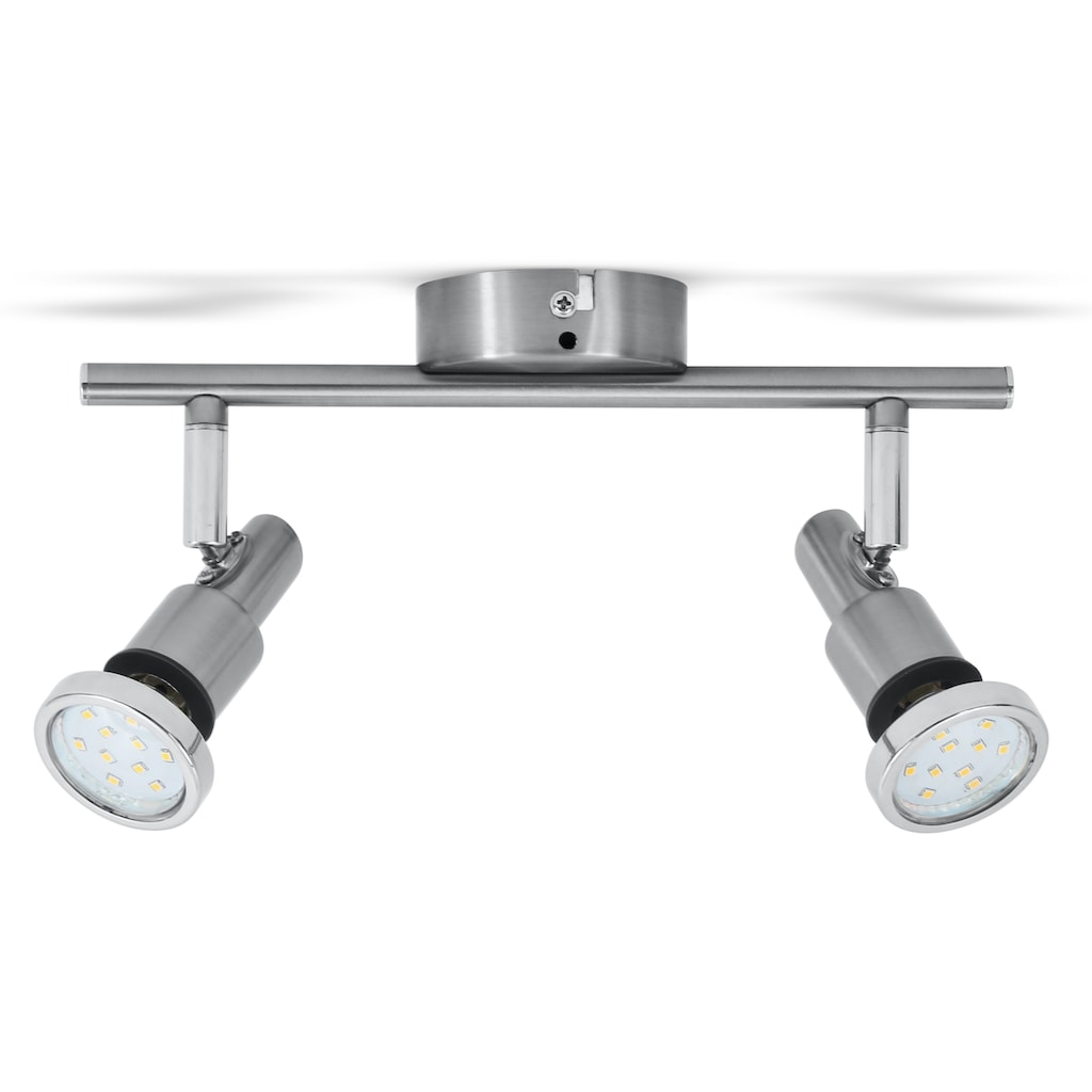 B.K.Licht LED Deckenleuchte »Aurel«, GU10, Warmweiß, LED Badlampe IP44 Deckenstrahler Badezimmer GU10 Spot Decke Leuchte Lampe 5W