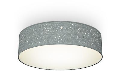 B.K.Licht Deckenleuchte, E27, 1 St., Textil-Sternenhimmel, Grau, Ø38cm, 2-flammig E27,... kaufen