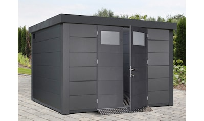 WOLFF FINNHAUS Stahlgerätehaus »Eleganto 3330«, BxT: 348x318 cm, anthrazit kaufen