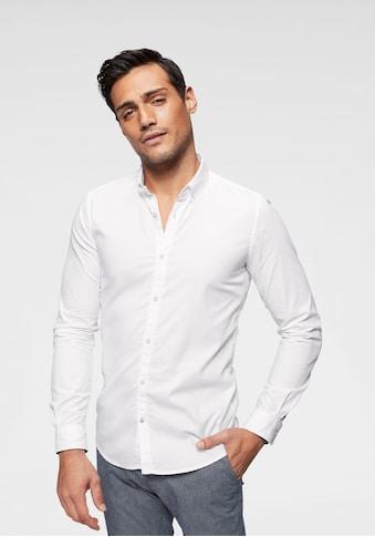 TOM TAILOR Langarmhemd, mit Button-down-Kragen kaufen