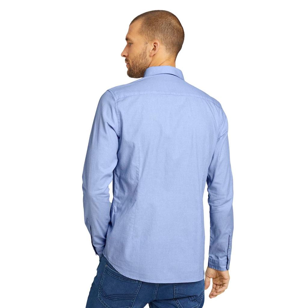TOM TAILOR Langarmhemd, im Basic-Design