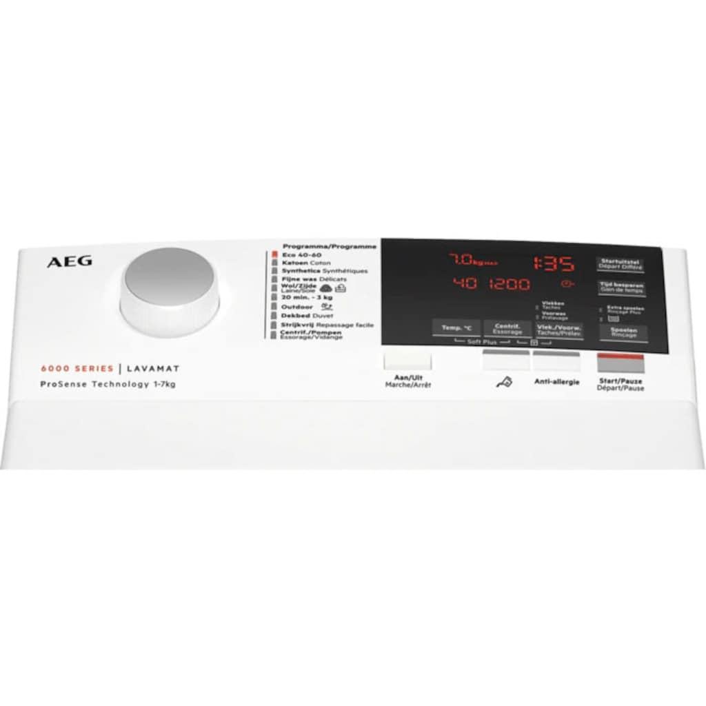 AEG Waschmaschine Toplader, L6TBA6270