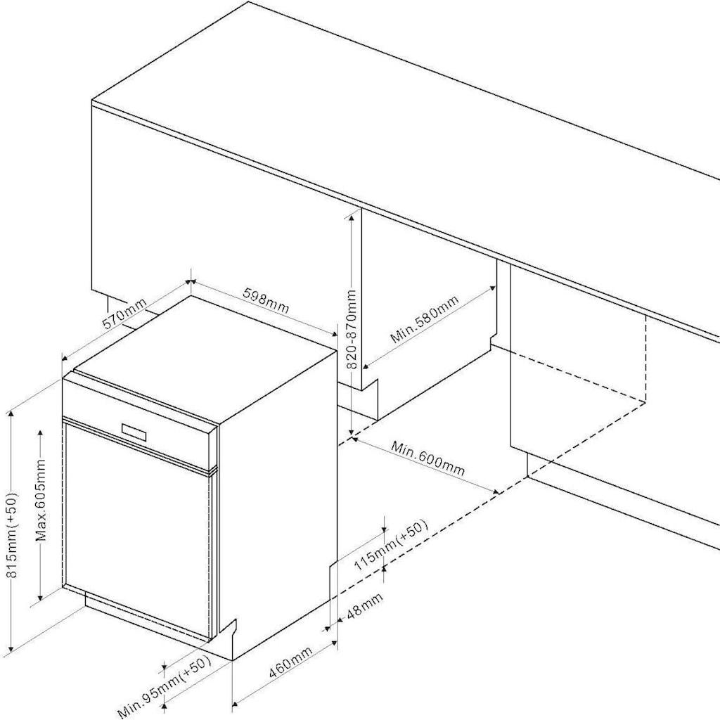 Amica teilintegrierbarer Geschirrspüler »EGSP 573 910 E«, EGSP 573 910-1 E, 13 Maßgedecke