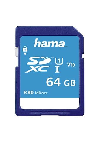 Hama SDXC Speicherkarte 64 GB, Class 10 UHS-I 80MB/S kaufen