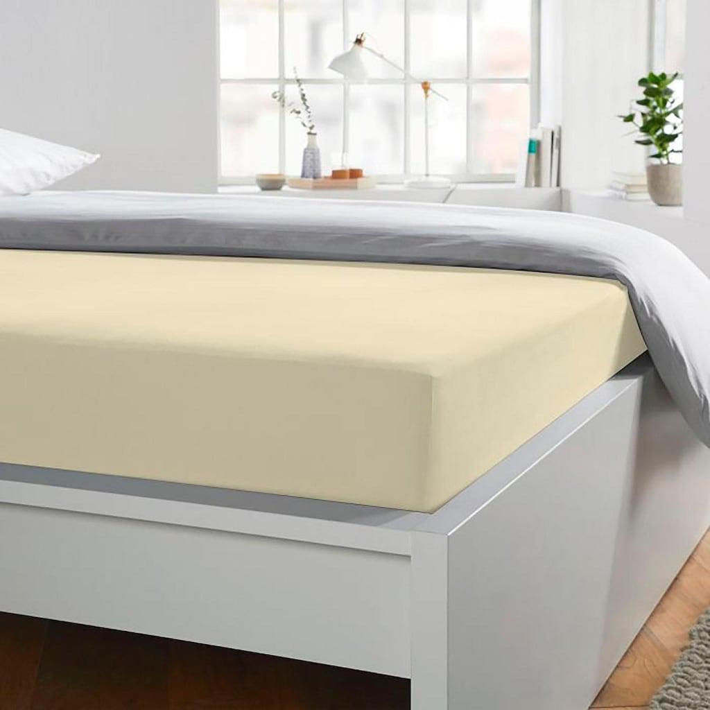 Schlafgut Spannbettlaken »Jersey-Elasthan«, für Topper