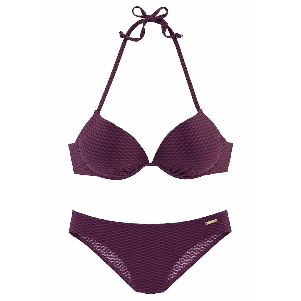 Bruno Banani Push-Up-Bikini, in schöner Strukturware