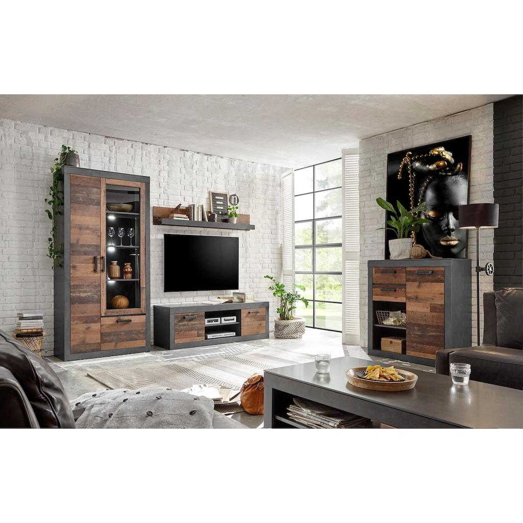Home affaire Wohnwand »BROOKLYN«, (3 St.), in dekorativer Rahmenoptik